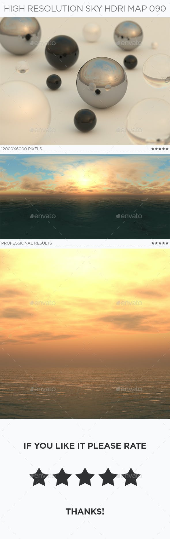 High Resolution Sky HDRi Map 090 - 3DOcean Item for Sale