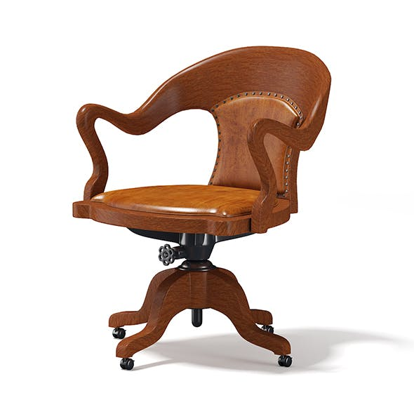 Wooden Swivel Chair - 3DOcean Item for Sale