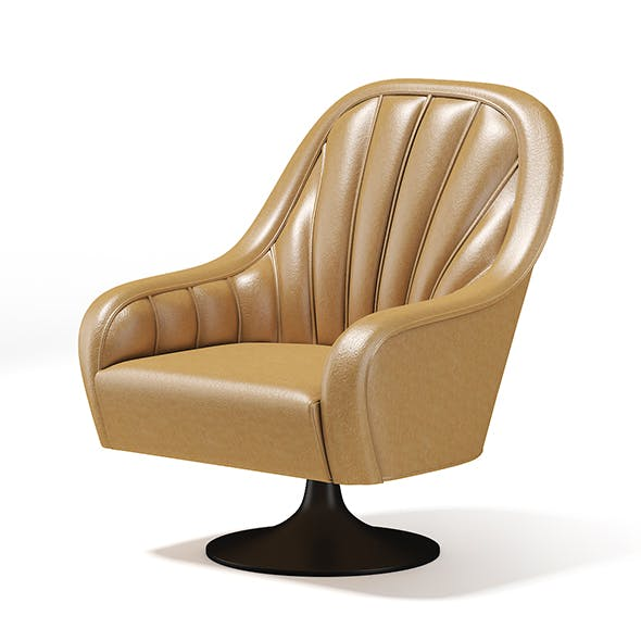 Beige Swivel Armchair - 3DOcean Item for Sale