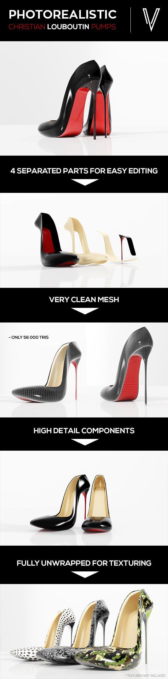 High Heels - 3DOcean Item for Sale