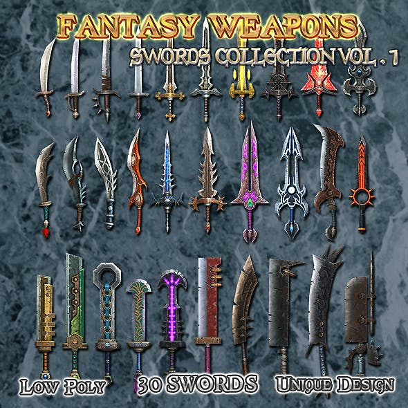 Medieval Fantasy Weapon Sword Collection VOL.1