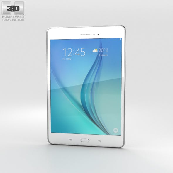 Samsung Galaxy Tab A 8.0 White - 3DOcean Item for Sale