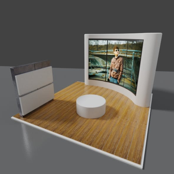 exhibition stand used for mock - ups