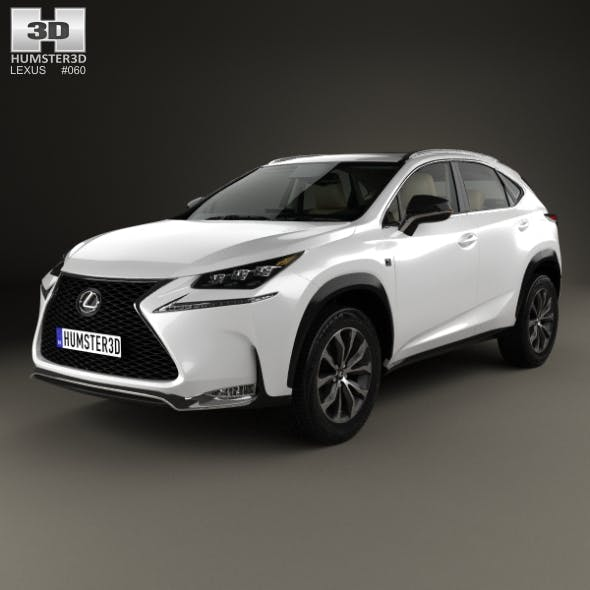 Lexus NX F-sport with HQ interior 2014 - 3DOcean Item for Sale
