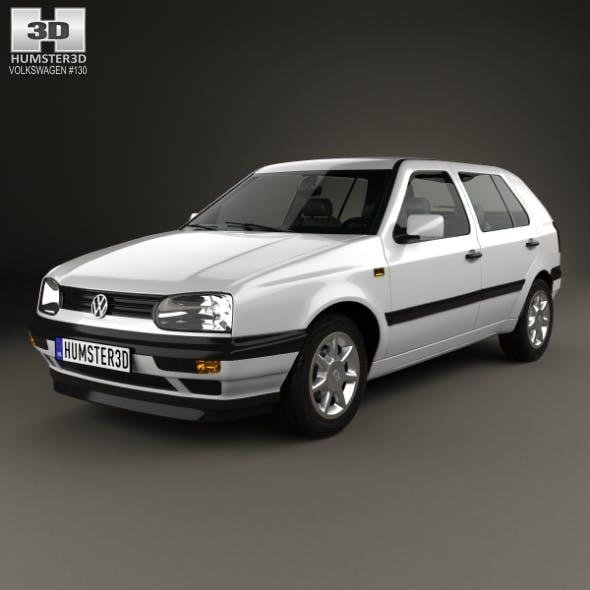 Volkswagen Golf 1993 - 3DOcean Item for Sale