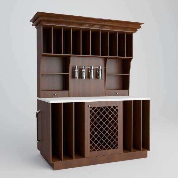 Wine shelf.