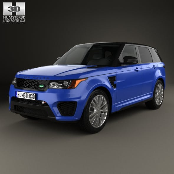 Land Rover Range Rover Sport SVR 2015 - 3DOcean Item for Sale