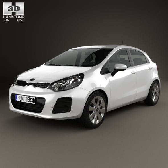 Kia Rio UB 5-door 2015 - 3DOcean Item for Sale