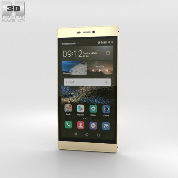 Huawei P8 Prestige Gold - 3DOcean Item for Sale