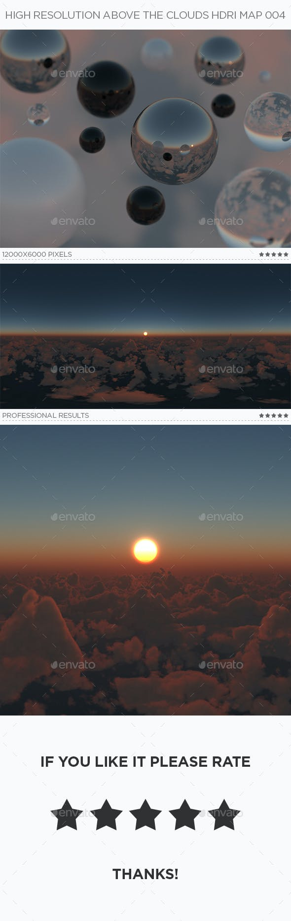 High Resolution Above The Clouds HDRi Map 004 - 3DOcean Item for Sale