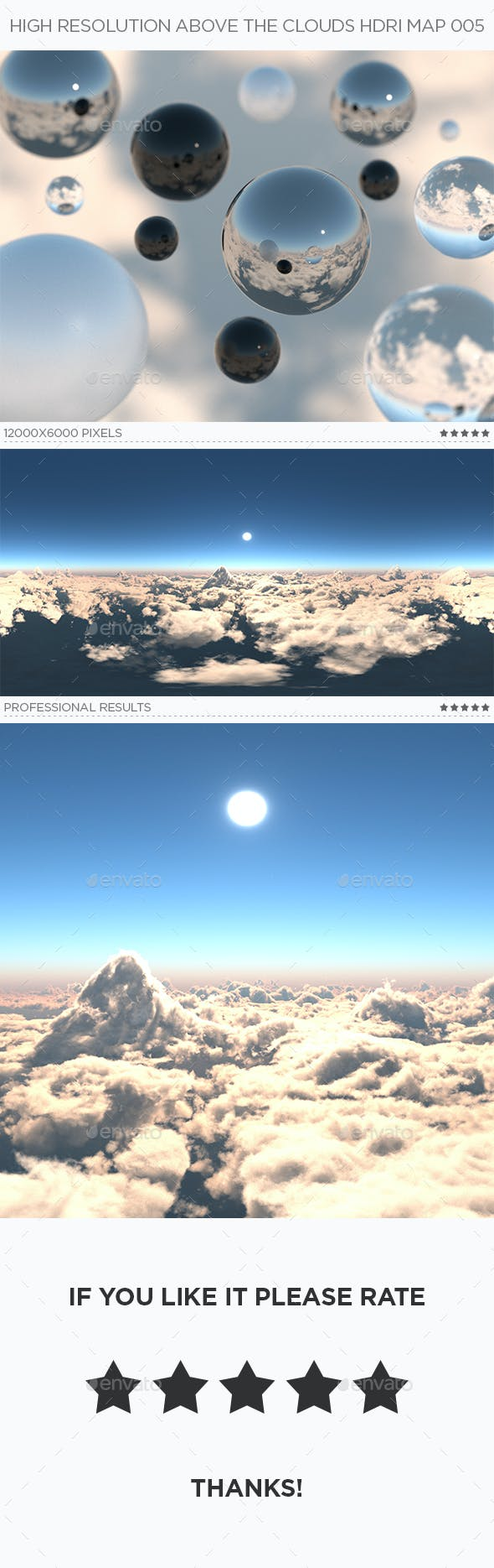 High Resolution Above The Clouds HDRi Map 005 - 3DOcean Item for Sale