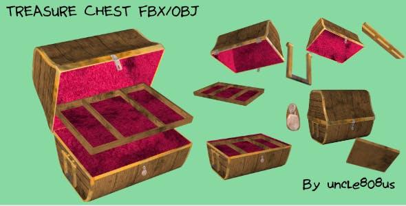 Treasure Chest FBX OBJ - 3DOcean Item for Sale
