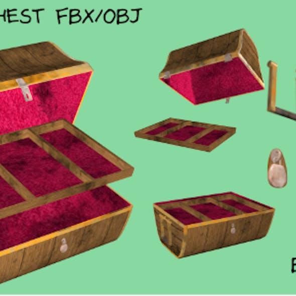 Treasure Chest FBX OBJ