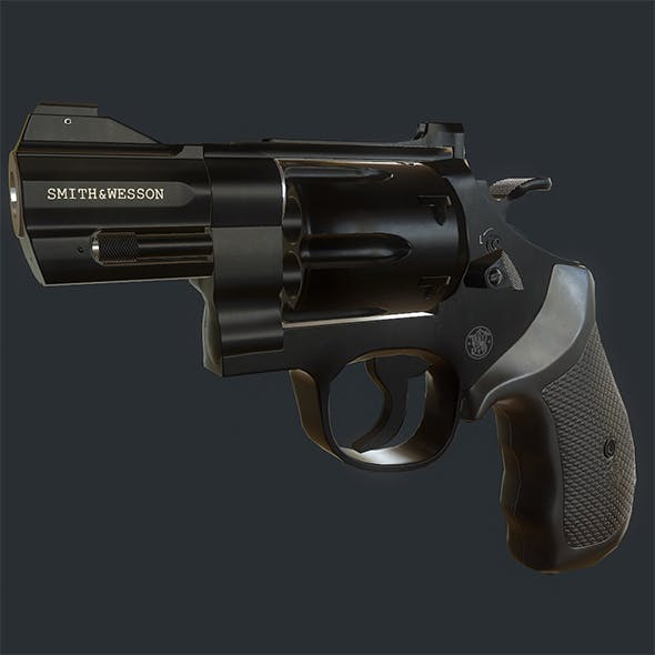 Smith and Wesson 329 Revolver - 3DOcean Item for Sale