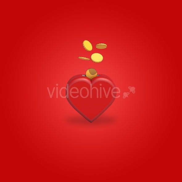 Wallet Heart - 3DOcean Item for Sale