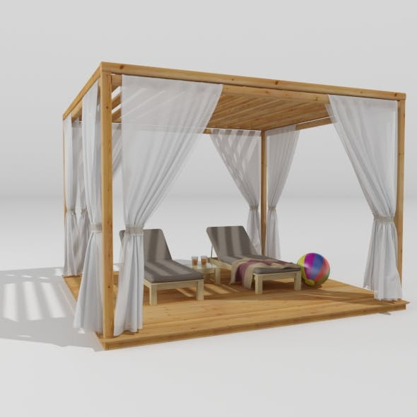 Wooden Pergola - 3DOcean Item for Sale