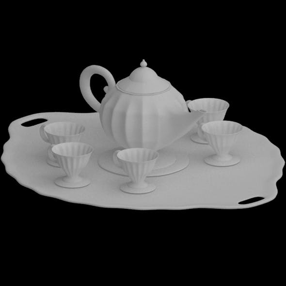 Fancy Tea Set - 3DOcean Item for Sale