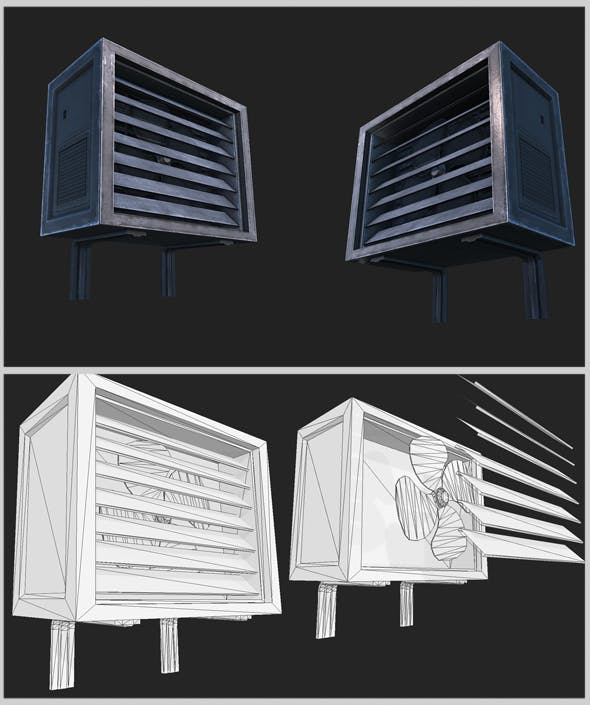 Wall Air Conditioner Unit - 3DOcean Item for Sale