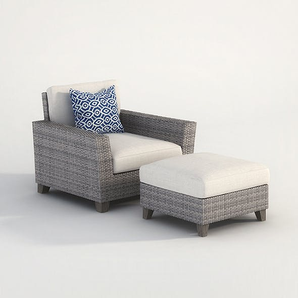 Vray Ready Armchair with longue