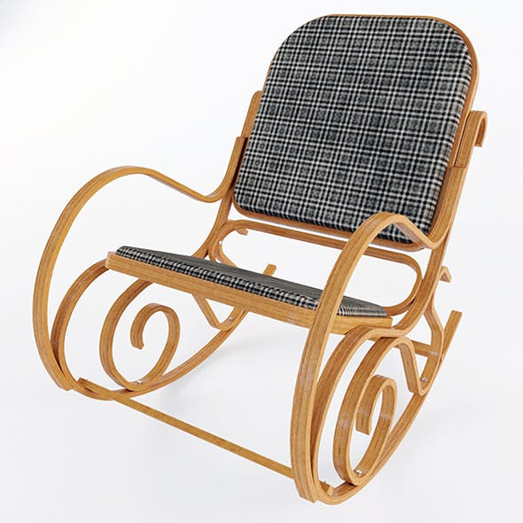 Vray Ready Wooden Arm Chair - 3DOcean Item for Sale