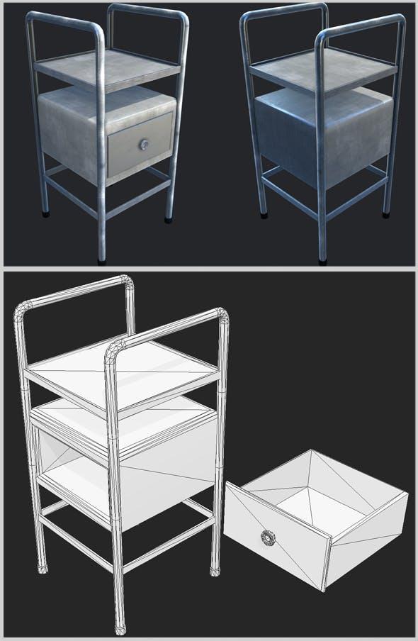Industrial Bedside Table - 3DOcean Item for Sale