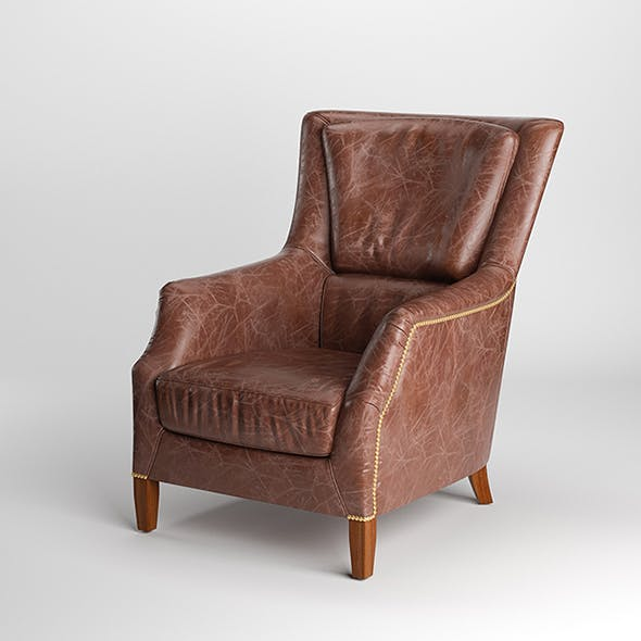 Vray Ready Leather Arm Chair