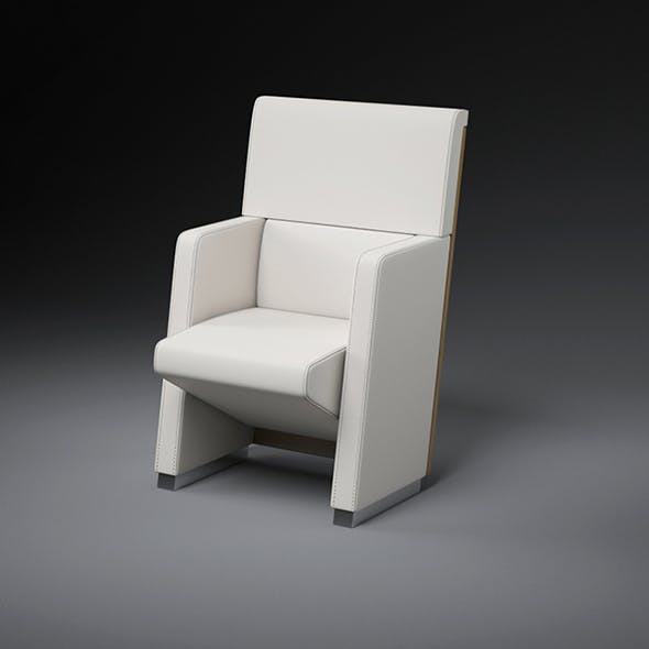 Vray Ready Modern Leather Chair