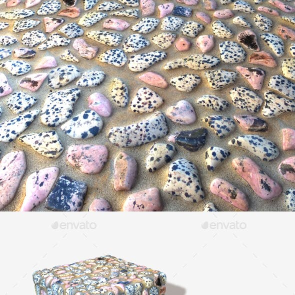 Pink Pebble Mosaic Seamless Texture