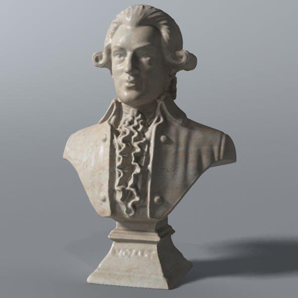 Mozart Bust - 3DOcean Item for Sale