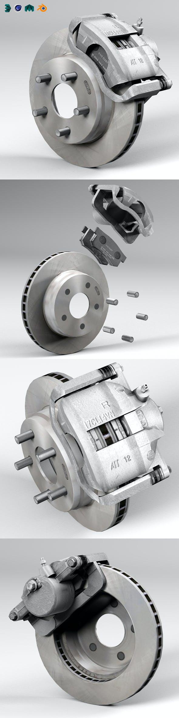Car disc brake - 3DOcean Item for Sale