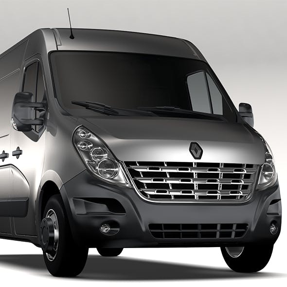 Renault Master L2H2 Van 2010 - 3DOcean Item for Sale