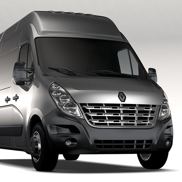 Renault Master L2H3 Van 2010 - 3DOcean Item for Sale