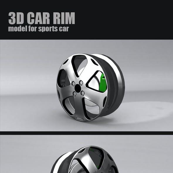 Sports car RIM 3d model