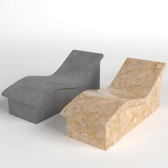 Stone and marble wave benches - 3DOcean Item for Sale
