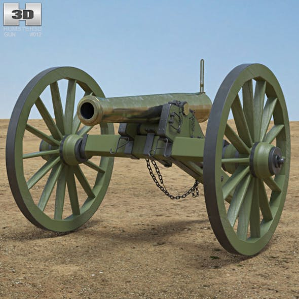 Model 1857 12-Pounder Napoleon - 3DOcean Item for Sale