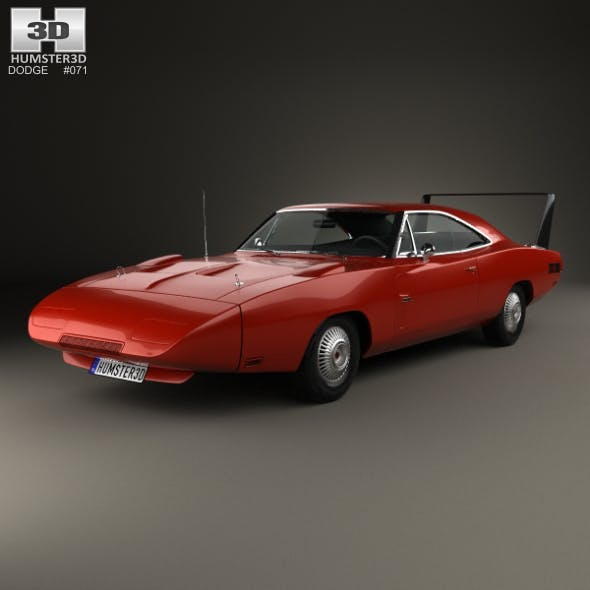 Dodge Charger Daytona Hemi 1969 - 3DOcean Item for Sale