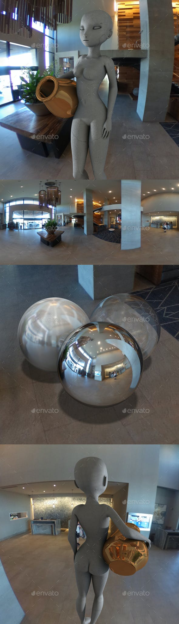 Modern Hotel Lobby HDRI - 3DOcean Item for Sale