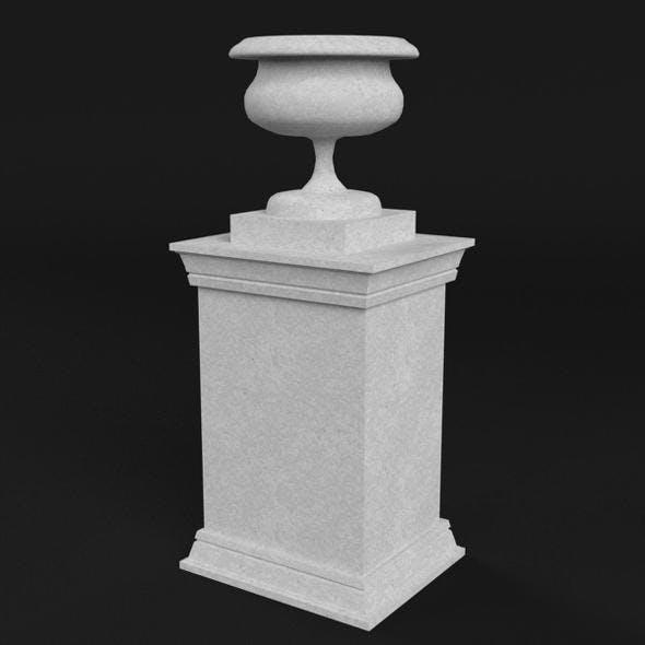 Garden stone Urn Vase on pedestal