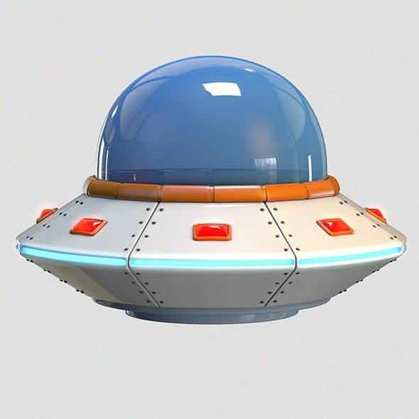 Low Poly Cartoon UFO - 3DOcean Item for Sale