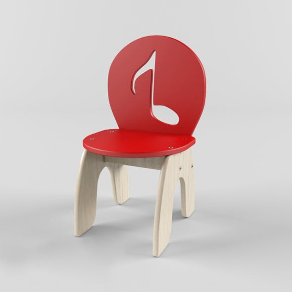 Vray Ready Modern Wood Chair