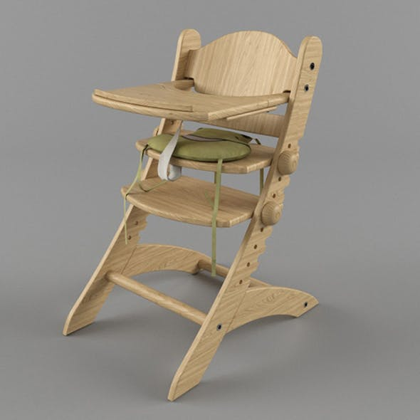 Vray Ready High Chair - 3DOcean Item for Sale
