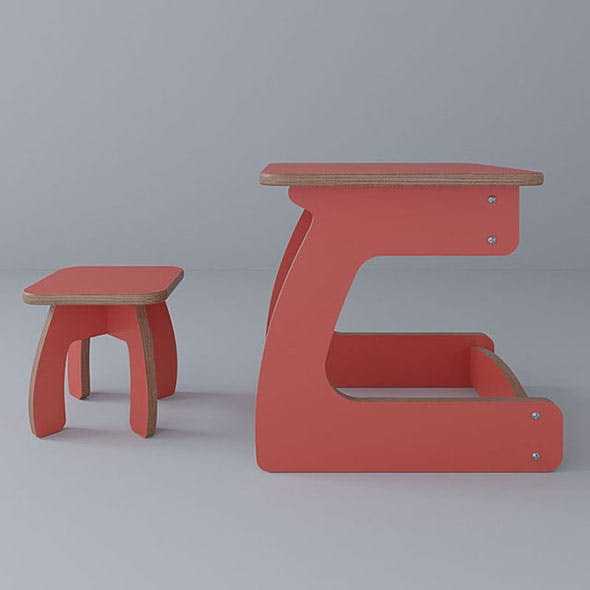 Vray Ready Study Chair with Table