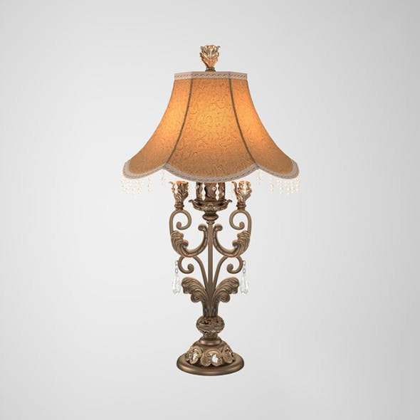 Vray Ready Matellic Table Lamp