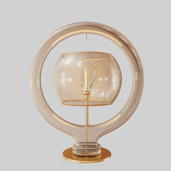Vray Ready Glass Table Lamp - 3DOcean Item for Sale