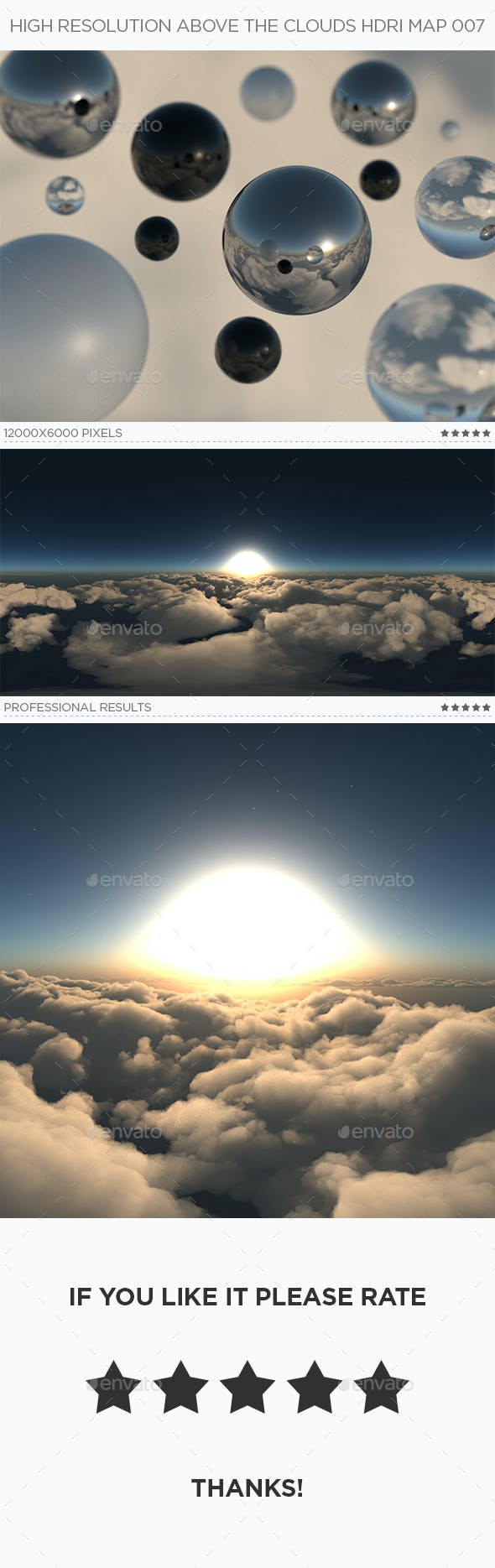 High Resolution Above The Clouds HDRi Map 007 - 3DOcean Item for Sale