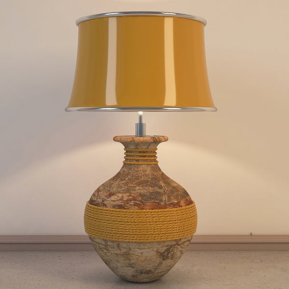 Vray Ready Vase Table Lamp - 3DOcean Item for Sale