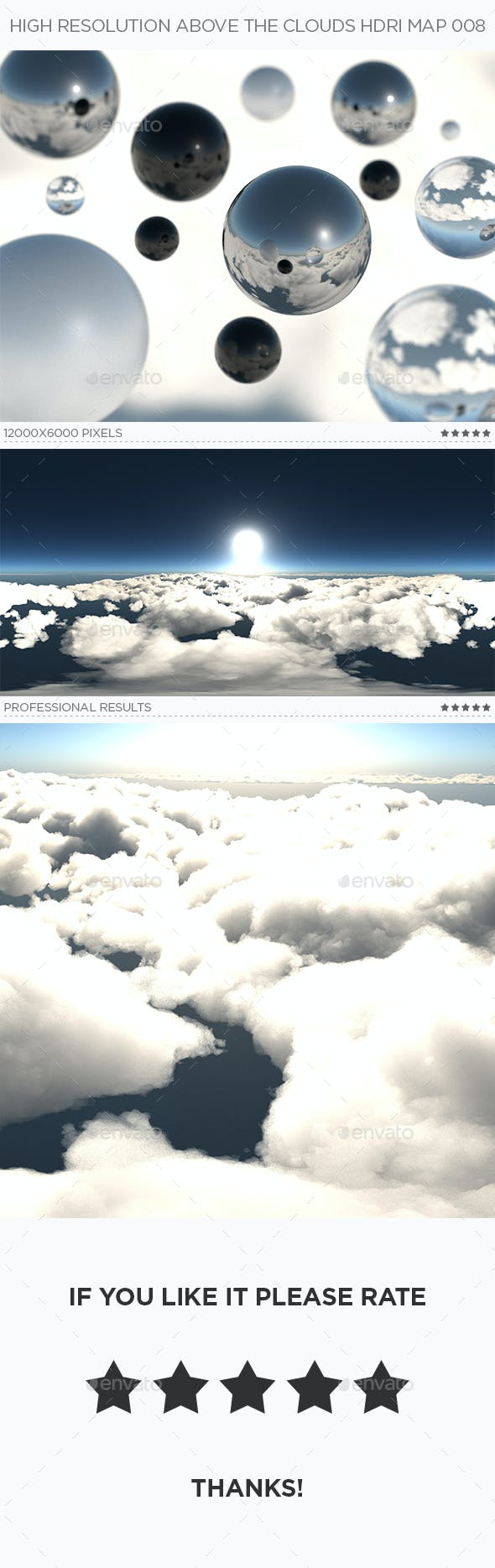High Resolution Above The Clouds HDRi Map 008 - 3DOcean Item for Sale