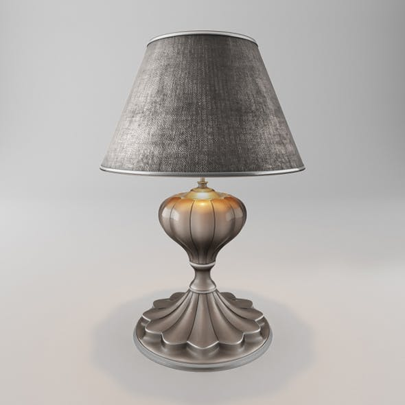 Vray Ready Metallic Flower Table Lamp - 3DOcean Item for Sale