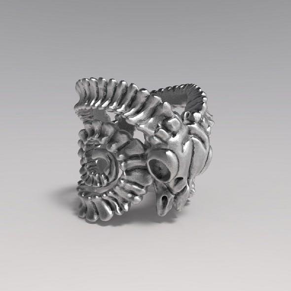 Goat Skull Ring