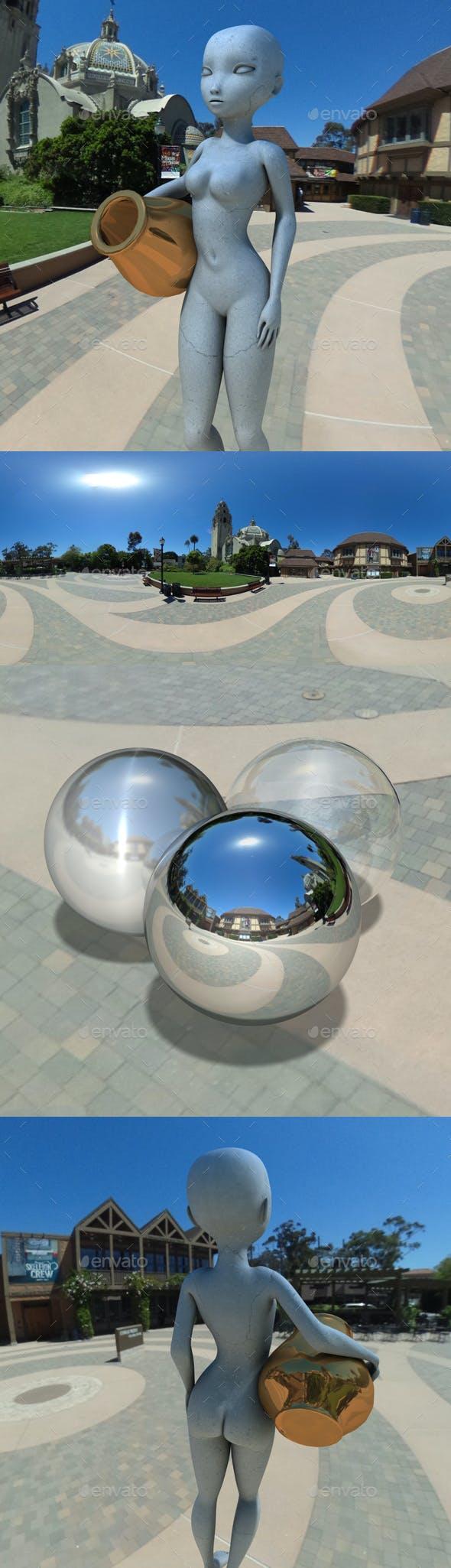 Museum Park Exterior HDRI - 3DOcean Item for Sale